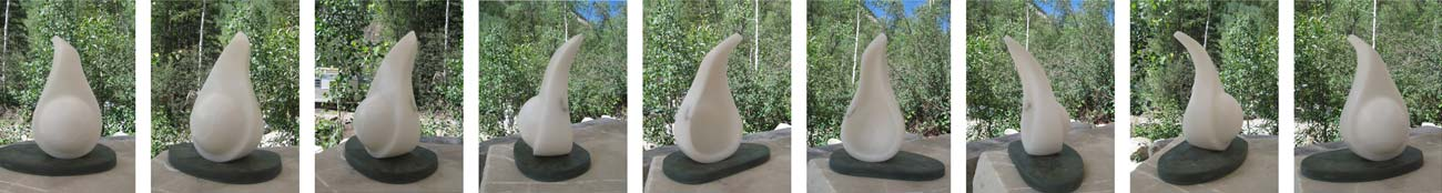 Wind Dreams Sculpture - Multiple views